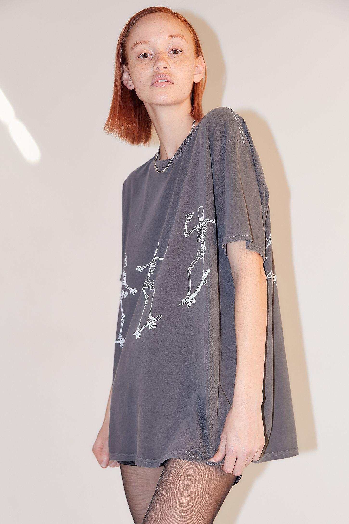668ce42d7c4 Slide View: 4: Project Social T Skateboard Skeletons T-Shirt Dress