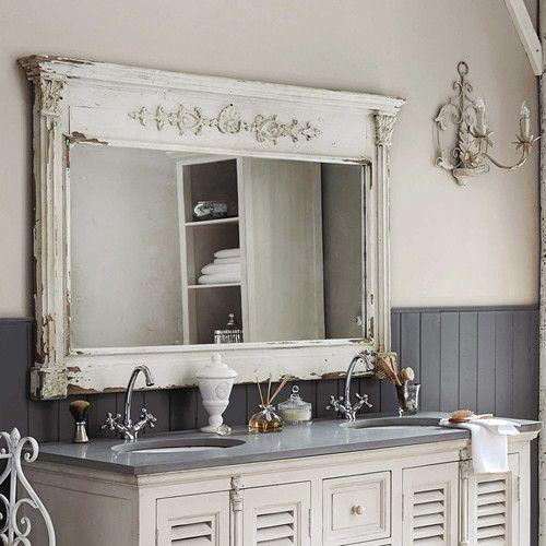 Albane Wooden Mirror White H 97cm Home Pinterest Bathroom
