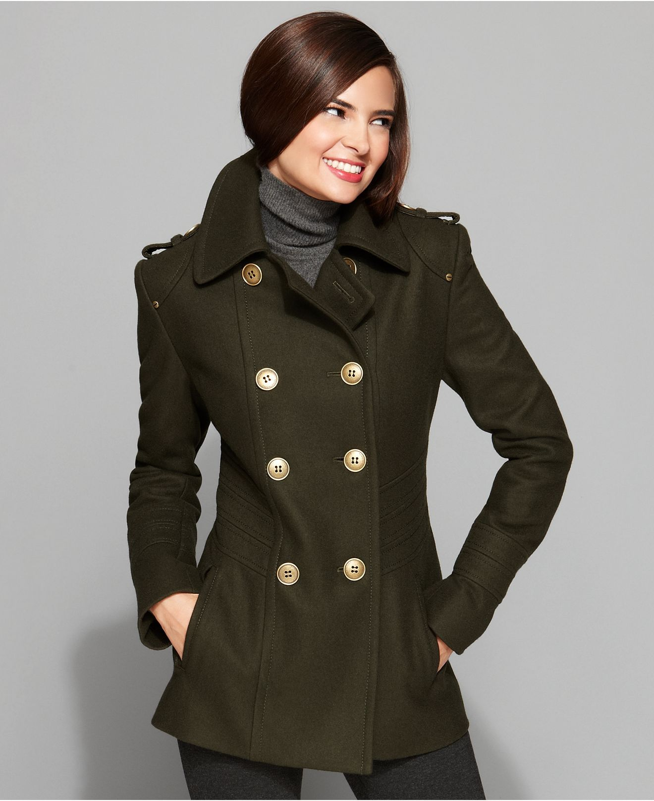 1000  images about Women&39s Pea coat Fashion on Pinterest | Wool