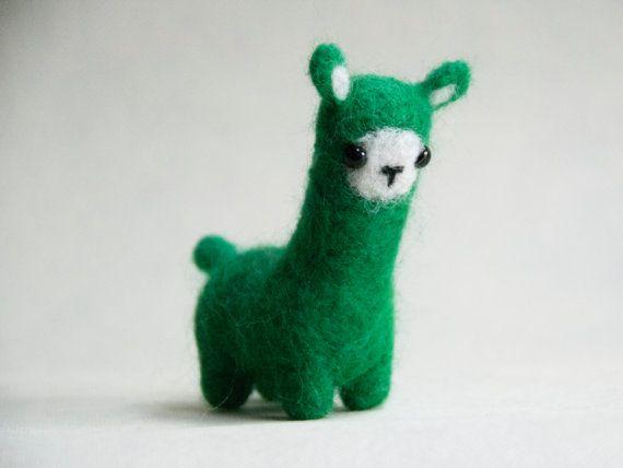 Niedliche flauschige Alpaka grün von 3kawki auf Etsy | Josipas Nicht ...