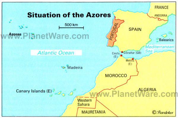 Azores Islands Map Portugal Spain Morocco Western Sahara Madeira Canary Islands E Effects Of Hurricane Gordon Heavy Rains High Damaging Winds Flash Floods To Me Azores Canary Islands Portugal Map