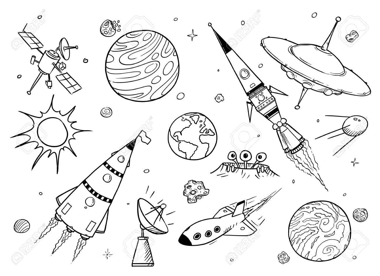 Rocket Ship Coloring Page Jakarta Concept