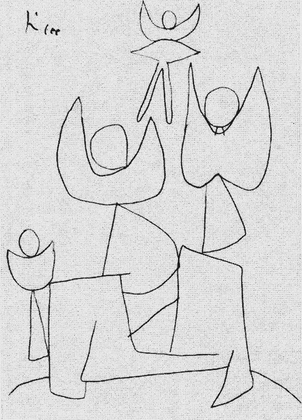 Paul Klee ~ Fels der Engel ~ 1939 Picasso zeichnung