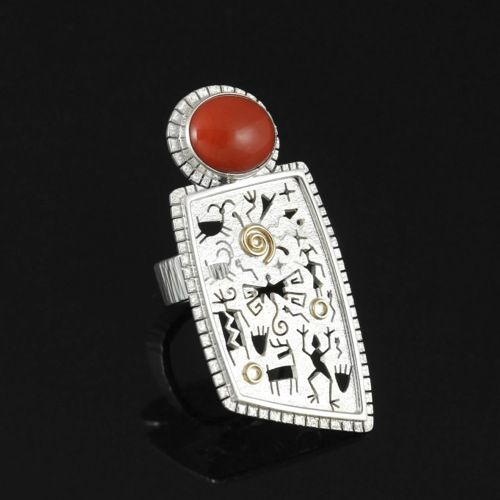 A unique piece of Native American jewelry by NavajoZuni artist