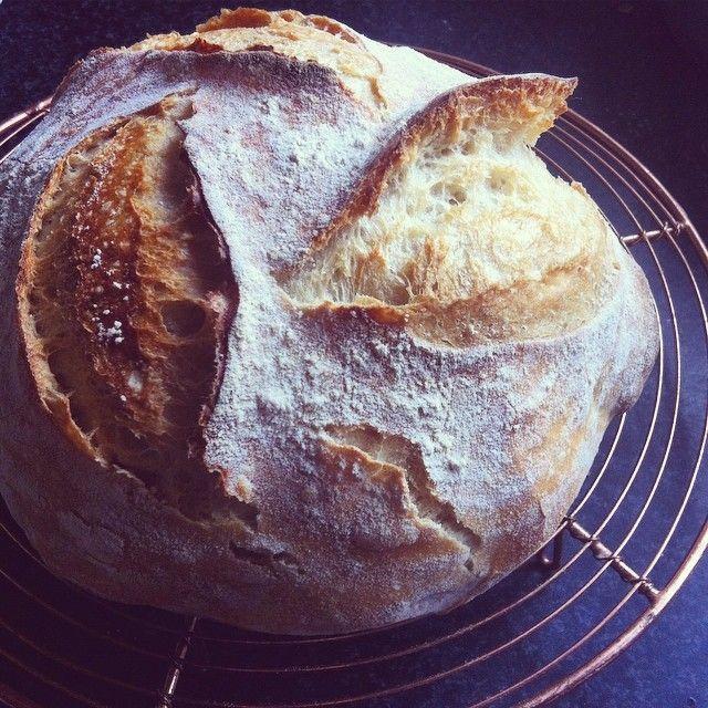 Spelt sourdough. No added yeast. Just spelt flour, water ...