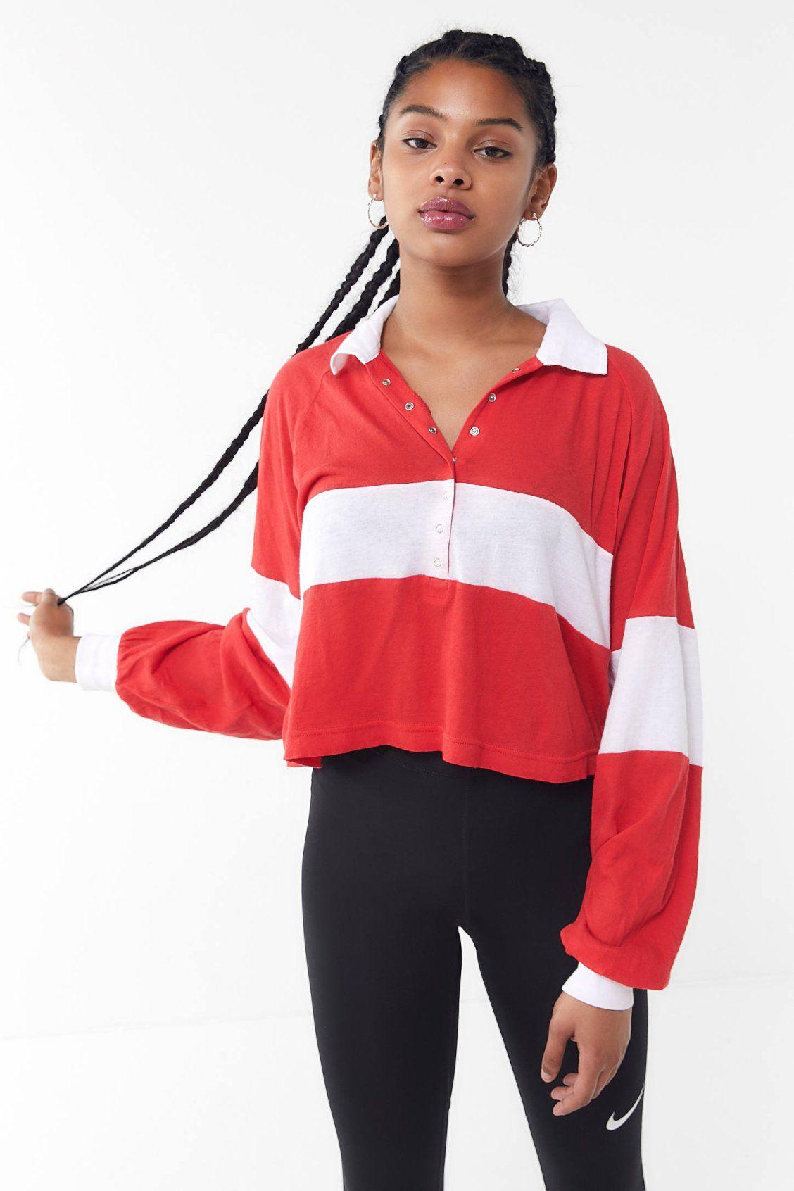 5e8bb86f2abd2 UO Carson Long Sleeve Polo Shirt