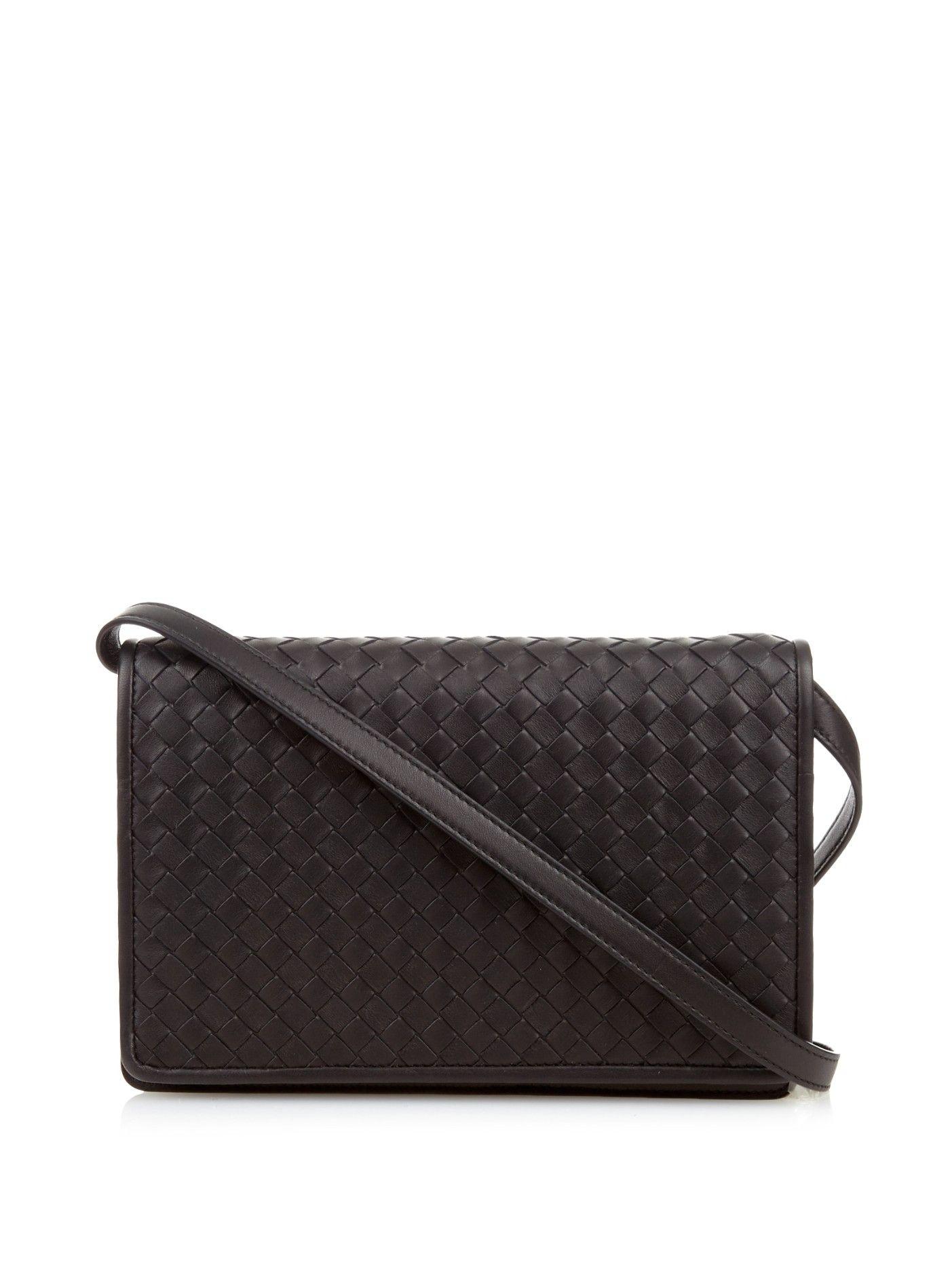 9c077a3abc Intrecciato leather fold-over clutch