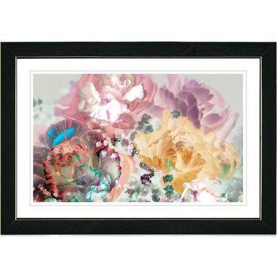 "Studio Works Modern ""Pastel Scented Bloom"" by Zhee Singer Framed Graphic Art"