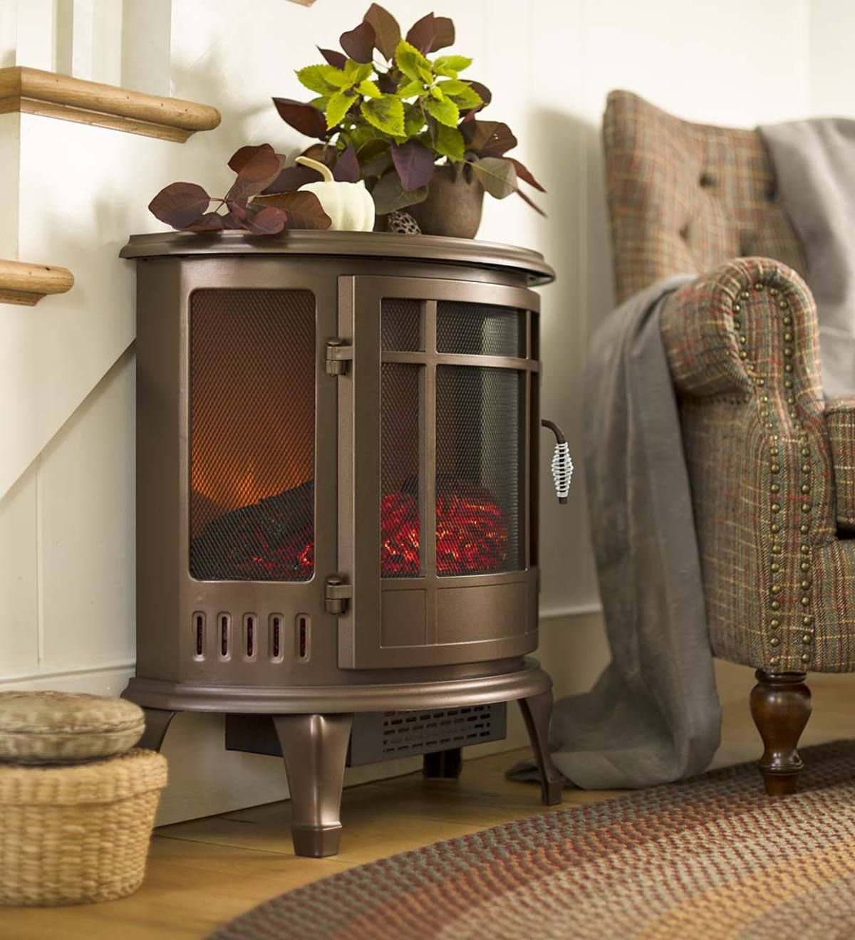 Curved Panoramic Electric Fireplace Stove Fireplace