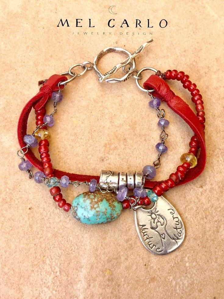 Photo of Bohemian Handmade Jewelry – Boho Leather Jewelry – Beaded Gemstone Leather ….