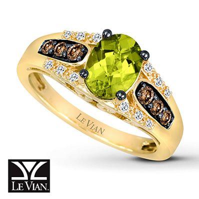 Le Vian Peridot Ring Chocolate Diamonds® 14K Honey Gold™