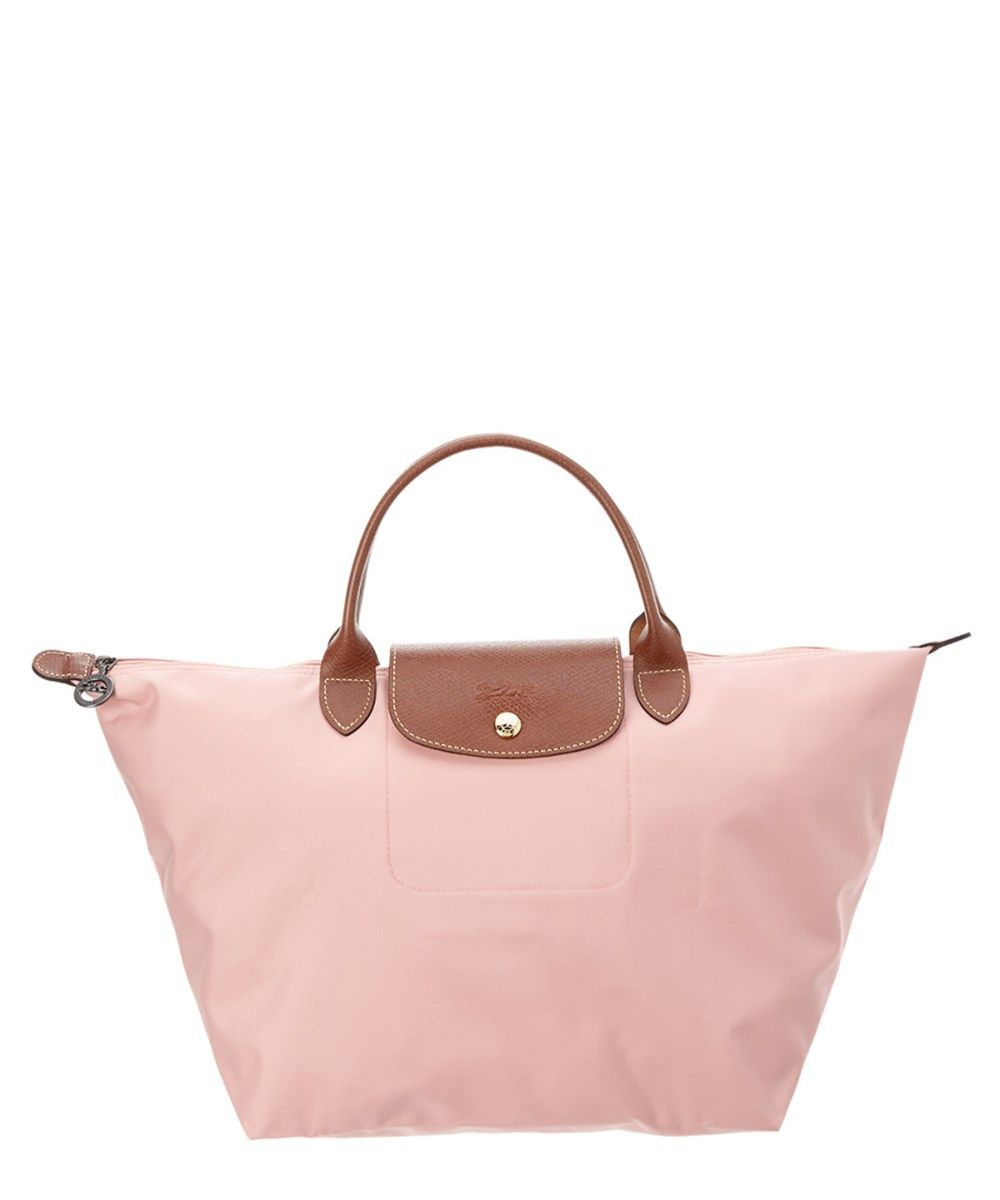 LONGCHAMP Longchamp Le Pliage Medium Nylon Top Handle Tote.  longchamp  bags   leather  hand bags  nylon  tote  lining   e3d526b1ce