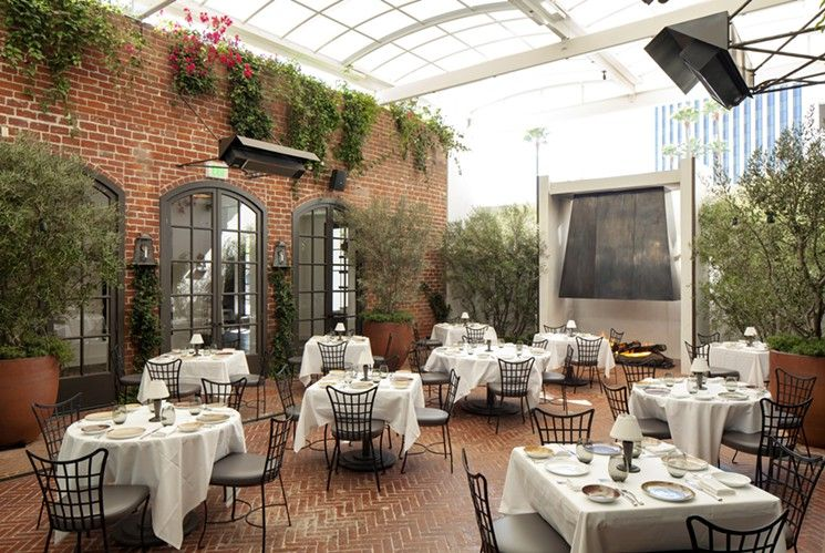 Patio At Spago Beverly Hills