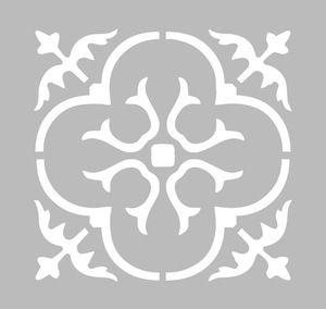 pochoir adh sif 20 x 20 cm faience stylisee pochoir. Black Bedroom Furniture Sets. Home Design Ideas