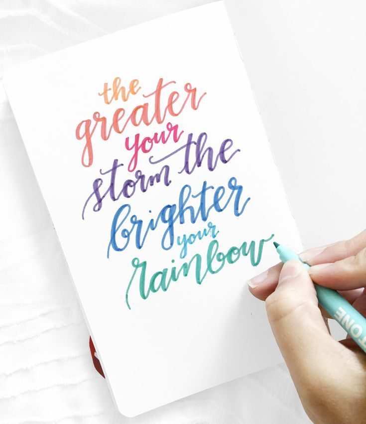 Create this Cursive Quote with Tombow TwinTone Markers - Tombow USA Blog