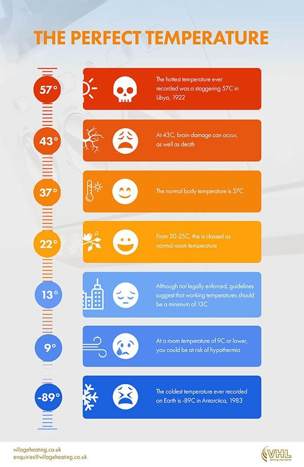 The Perfect Temperature [infographic] | Infographic ...