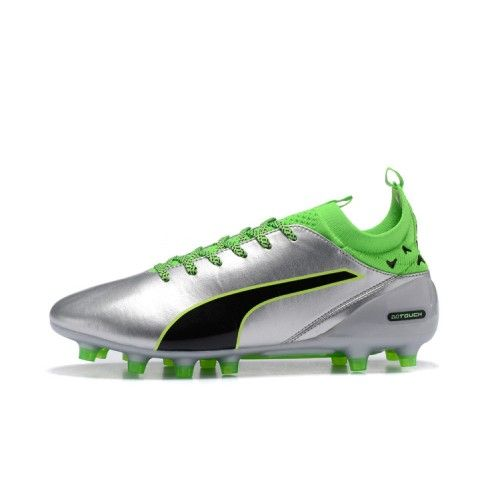 Best Puma evoTOUCH Pro AG Silver Green Football Boots  aa92ea3e78373