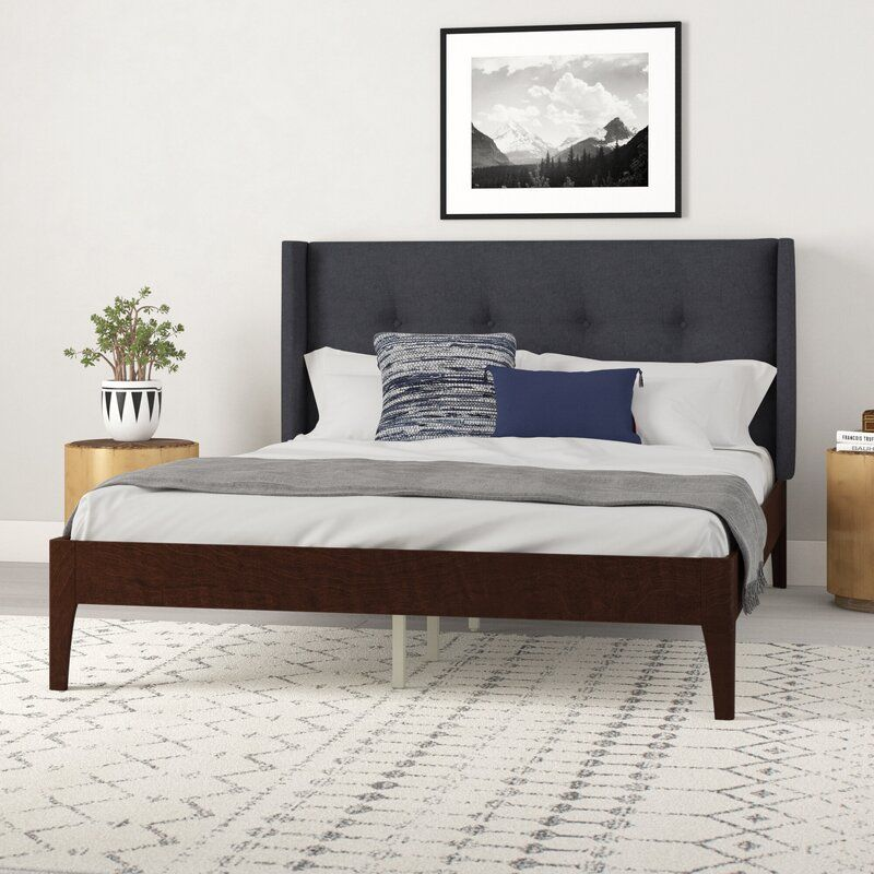 Birdsall Conway Queen Upholstered Platform Bed Reviews Allmodern Upholstered Platform Bed Furniture Simple Bed