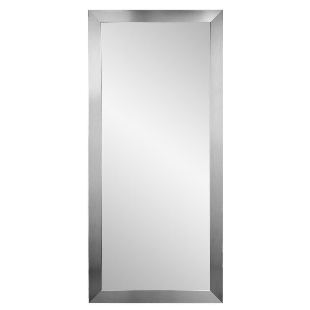 Brandtworks Premium Silver 32 In X 71 In Floor Mirror Bm001t 1