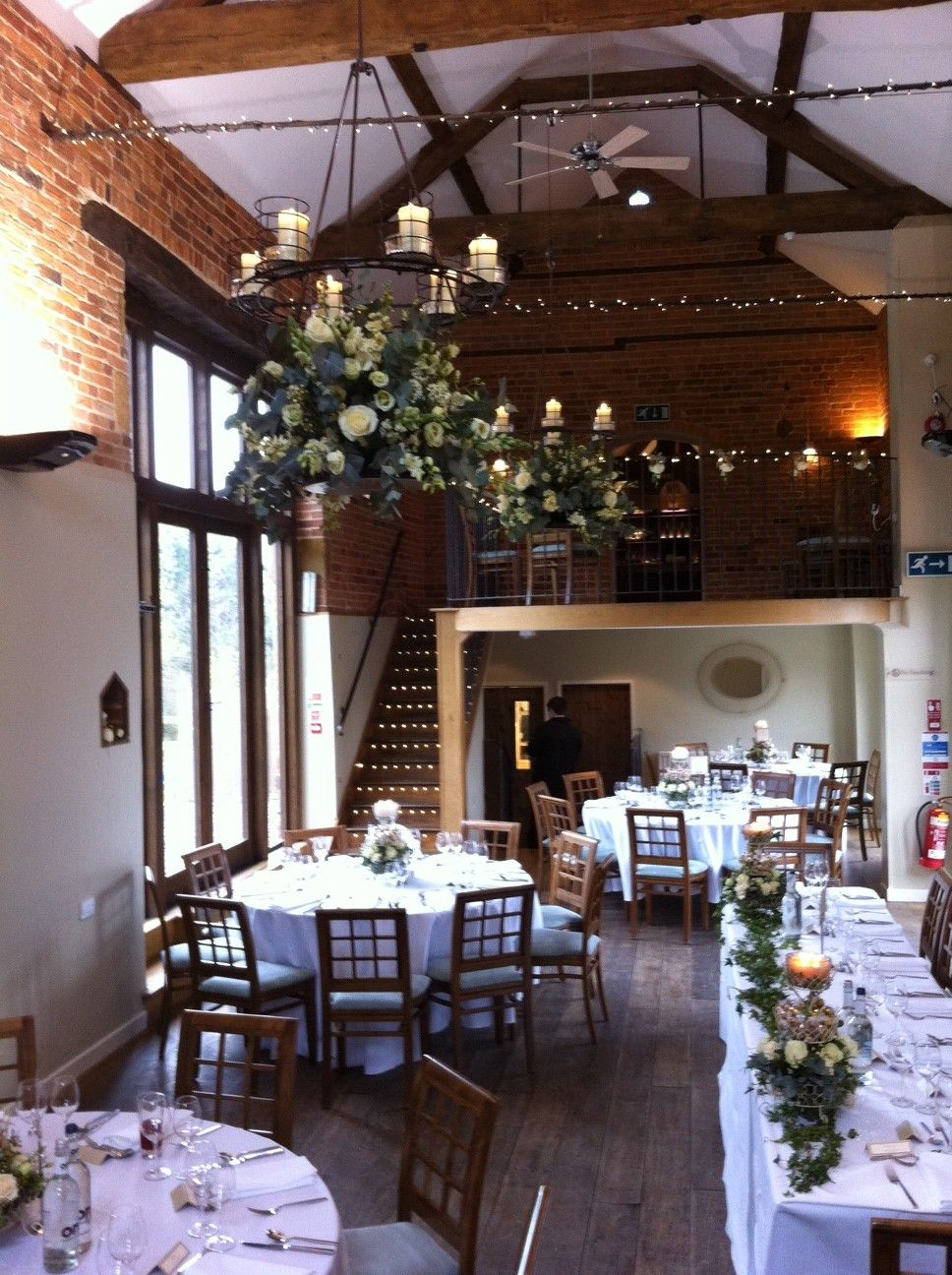 Wedding decorations house  Our candelabras are able to have floral decorations hanging from