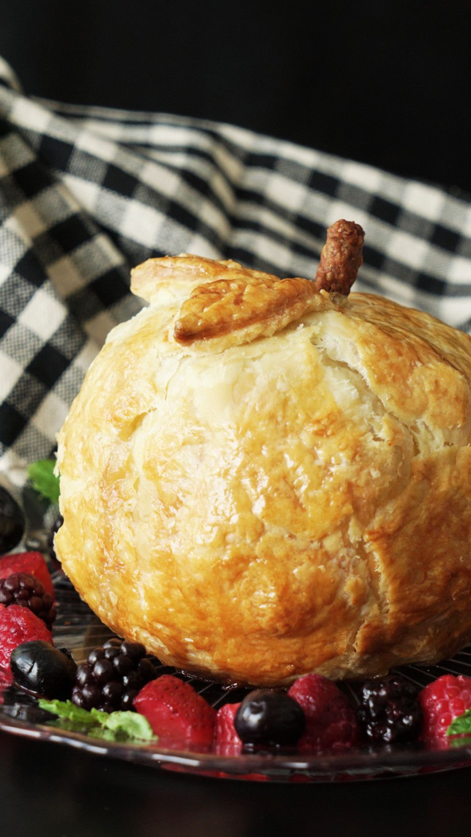 Save yourself the hassle of peeling, coring and dicing by turning one whole apple into a mini pie.