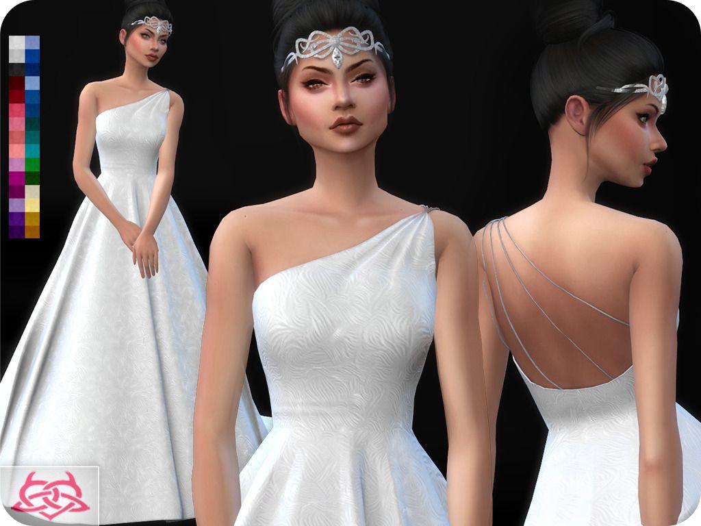 Sims 4 Wedding Dress.Lana Cc Finds Coloresurbanos Wedding Dress 12 Original Sims