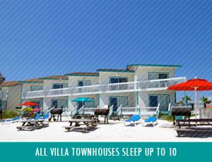 View Of The Villa Townhouses At Sandpiper Beacon Beach Resort In Panama City Fl