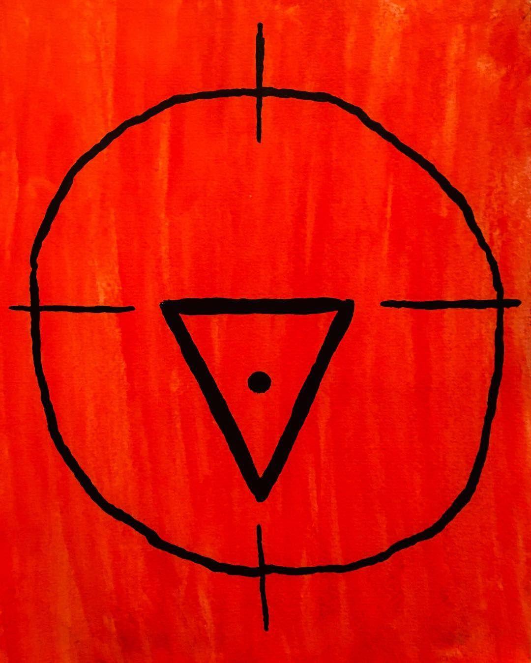 Triangle occult symbol mixedmedia ink black red paint art triangle occult symbol mixedmedia ink black red paint buycottarizona