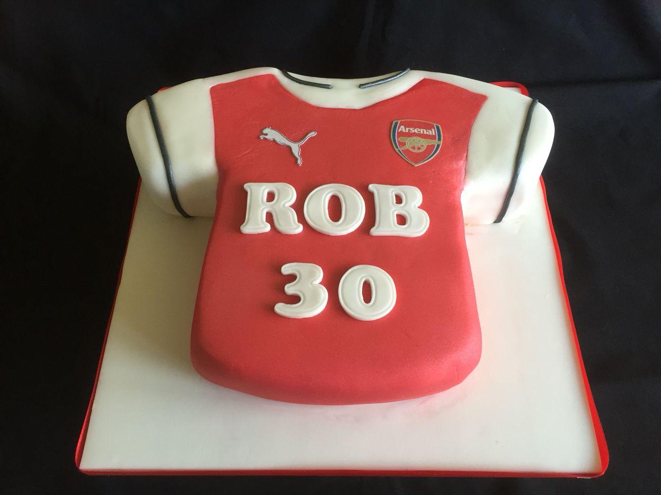 Arsenal Football Th Birthday Cake TShirt Cake Designs - Birthday cake shirt