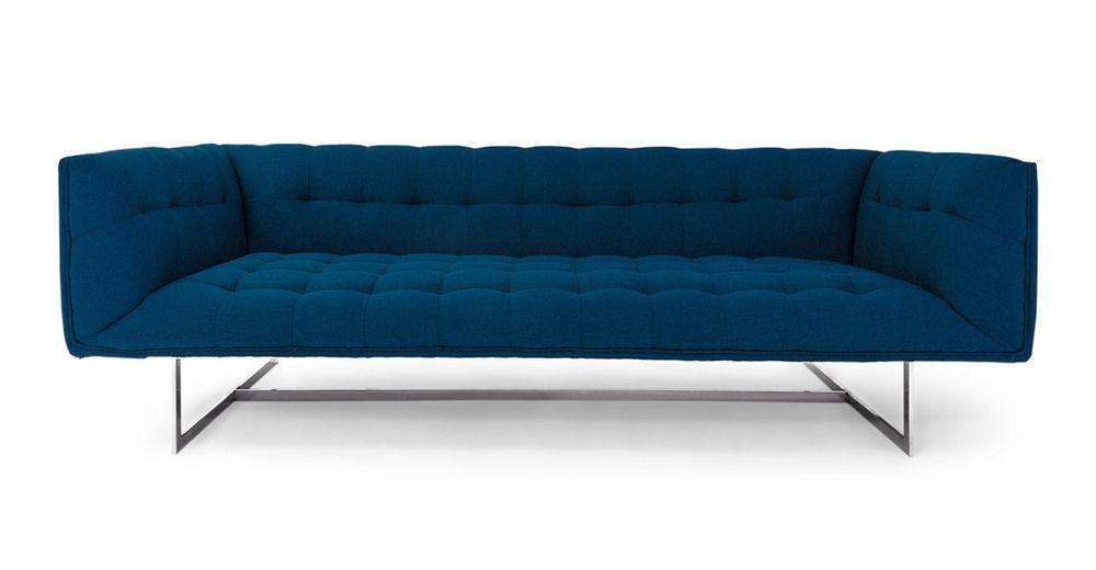 Edward Sofa Oxford Blue Mid Century Modern Sofa Classic Sofa Sofa