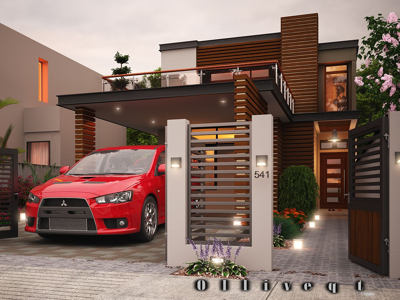 This is a two storey Contemporary house design which speaks elegance ...