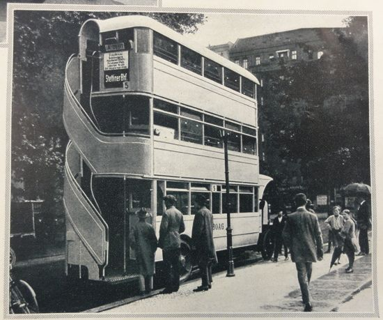 The first motorized double-decker buses were introduced in 1923 - double first