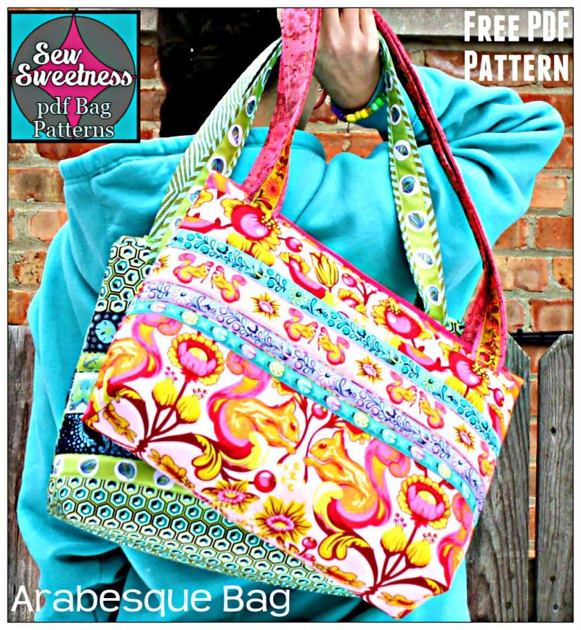 The Arabesque Bag - Free PDF Sewing Pattern + Fusible Interfacing How-To