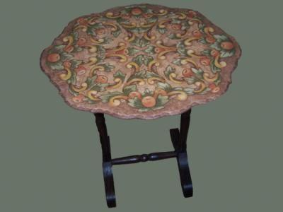 mesa mesa madera,goma eva,pinturas ecológicas lustrado y forrado,pirograbado y coloreado