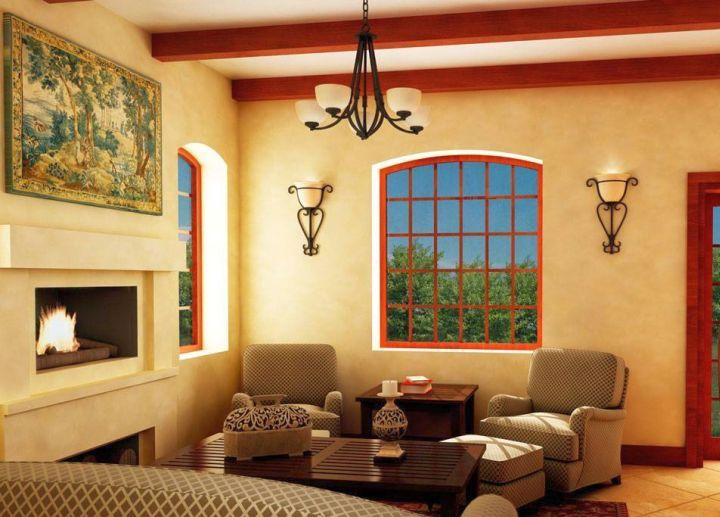 tuscan living room colors with cream walls and beige furniture ...
