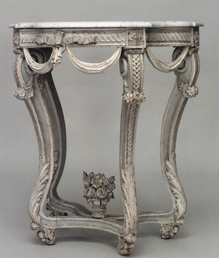 Antique French Regence console table painted