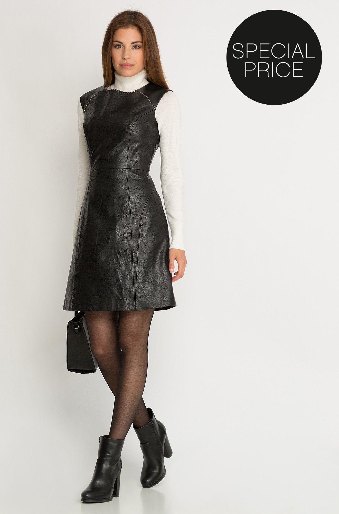 f2d0179184 Sukienka z eko-skóry
