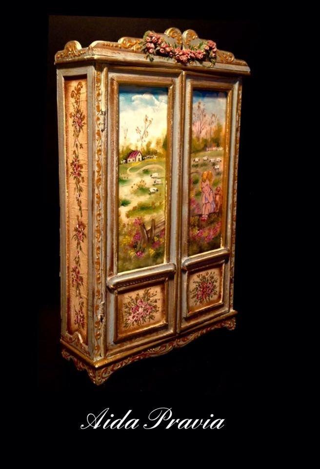 Aida Pravia Painted Miniature Furniture And Decorative Items Hand