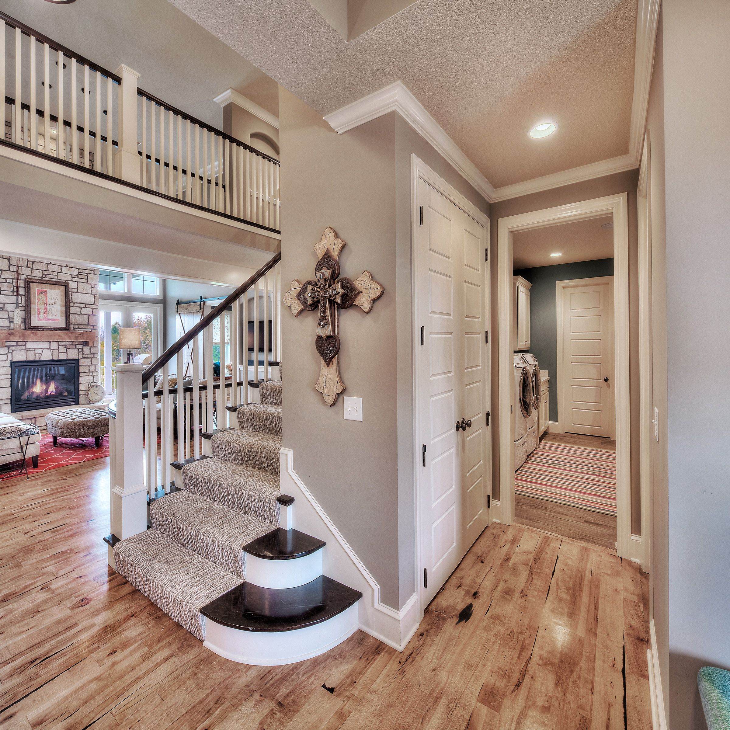 Hardwood Floors In Half Bathroom: Entry: Front Access To Laundry Room, Lots Of Storage Space