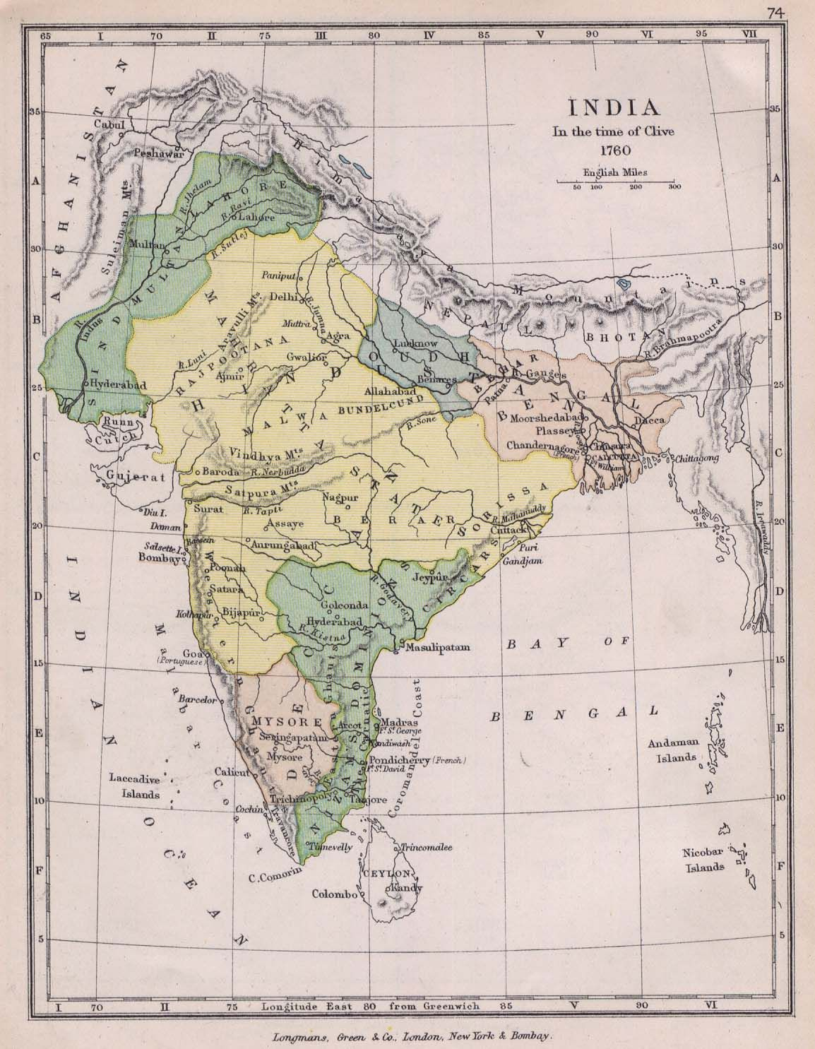 Year 1760 Ancient Indian Map Old Indian Map India Map Historical Maps India World Map