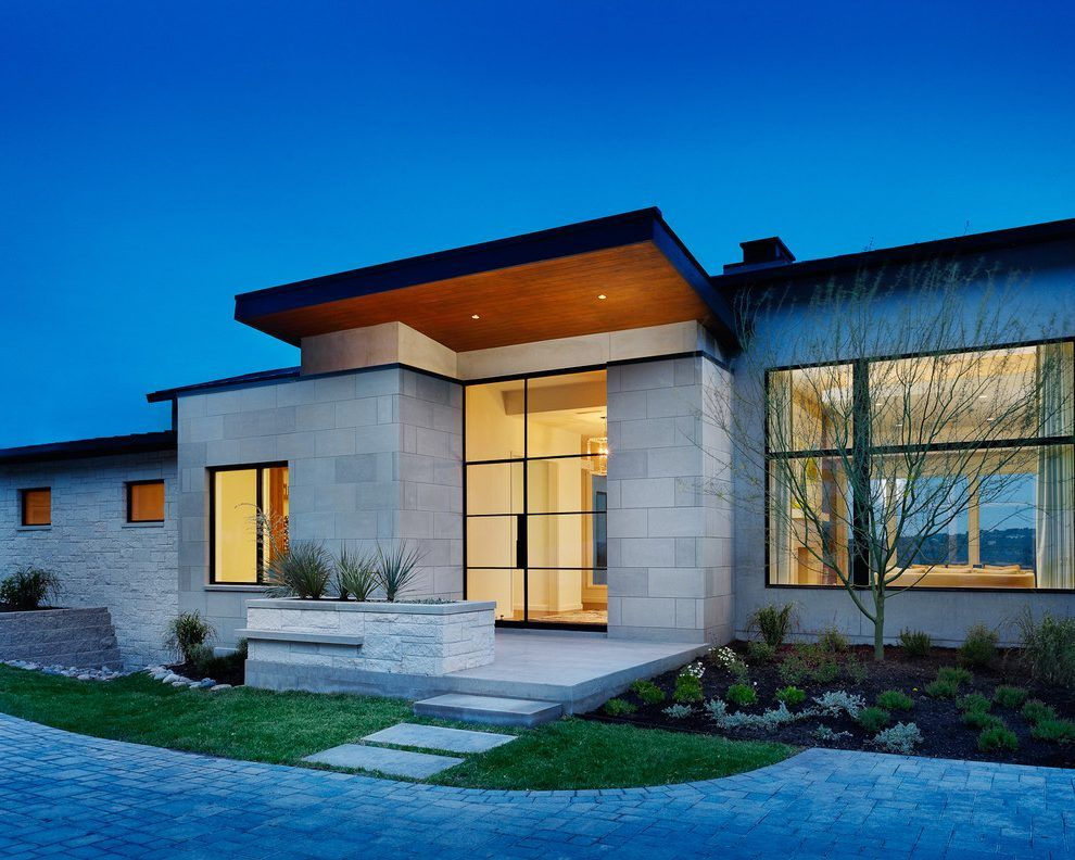 limestone exterior country homes hill contemporary modern texas glass architecture door plans outdoor doors features federal hillside architectural billielourd facade