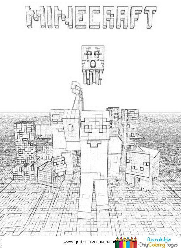 Minecraft Ausmalbilder Gratis Malvorlagen Pinterest - Minecraft hauser ausmalbilder