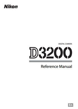 Nikon D3200 Reference Manual. This links to Moose's tips