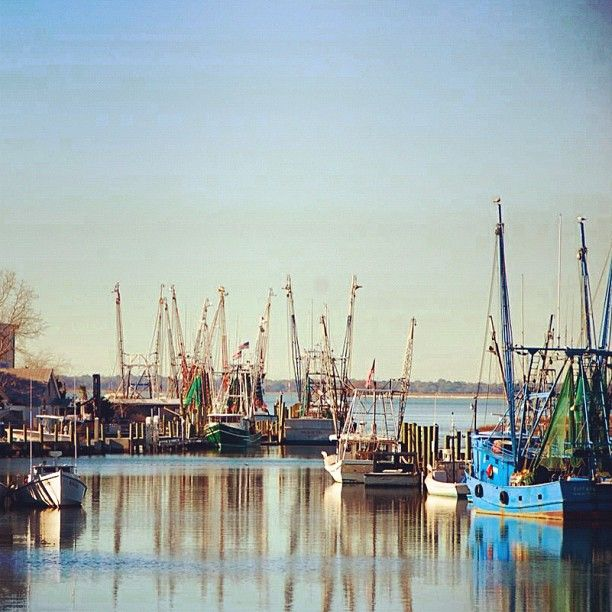 Shem Creek shrimp boats. Photo by explorecharleston • Instagram