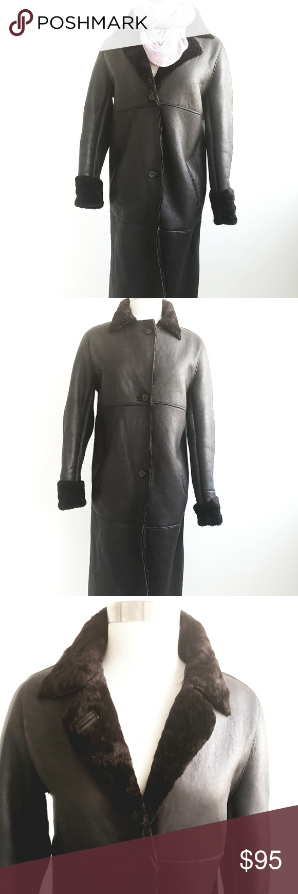 Zara 100 Leather Fur Long Winter Coat Long winter coats