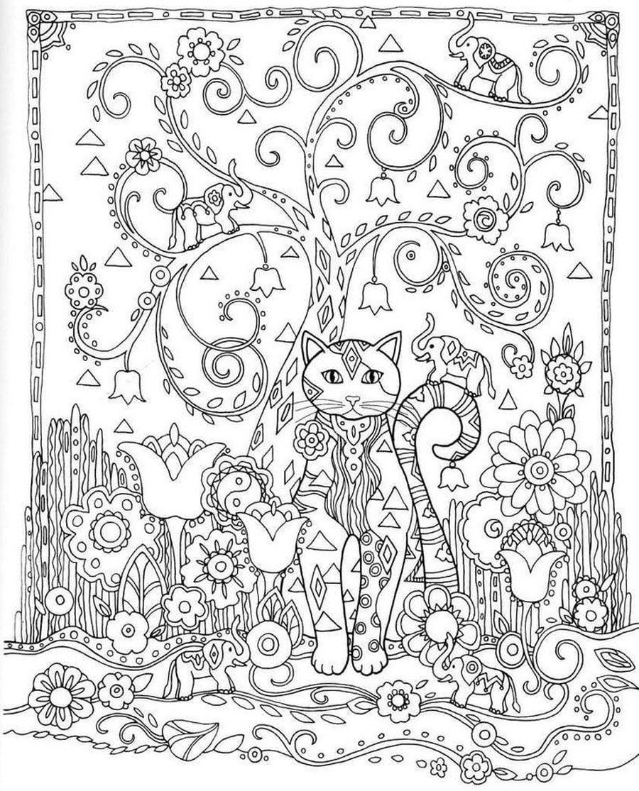 Katzen Ausmalbilder Mandala : Pin Von Fiyoung Auf Pinterest Mandala Malvorlagen Zen