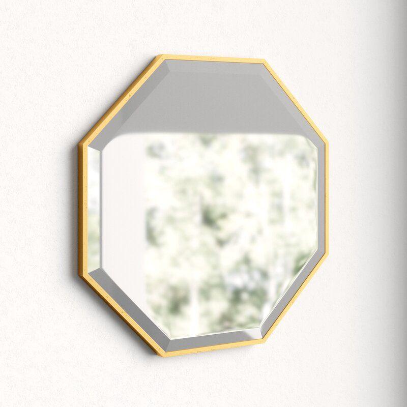Bathroom Vanity Mirror Geometric Wall, Herman Modern Contemporary Beveled Bathroom Vanity Mirror