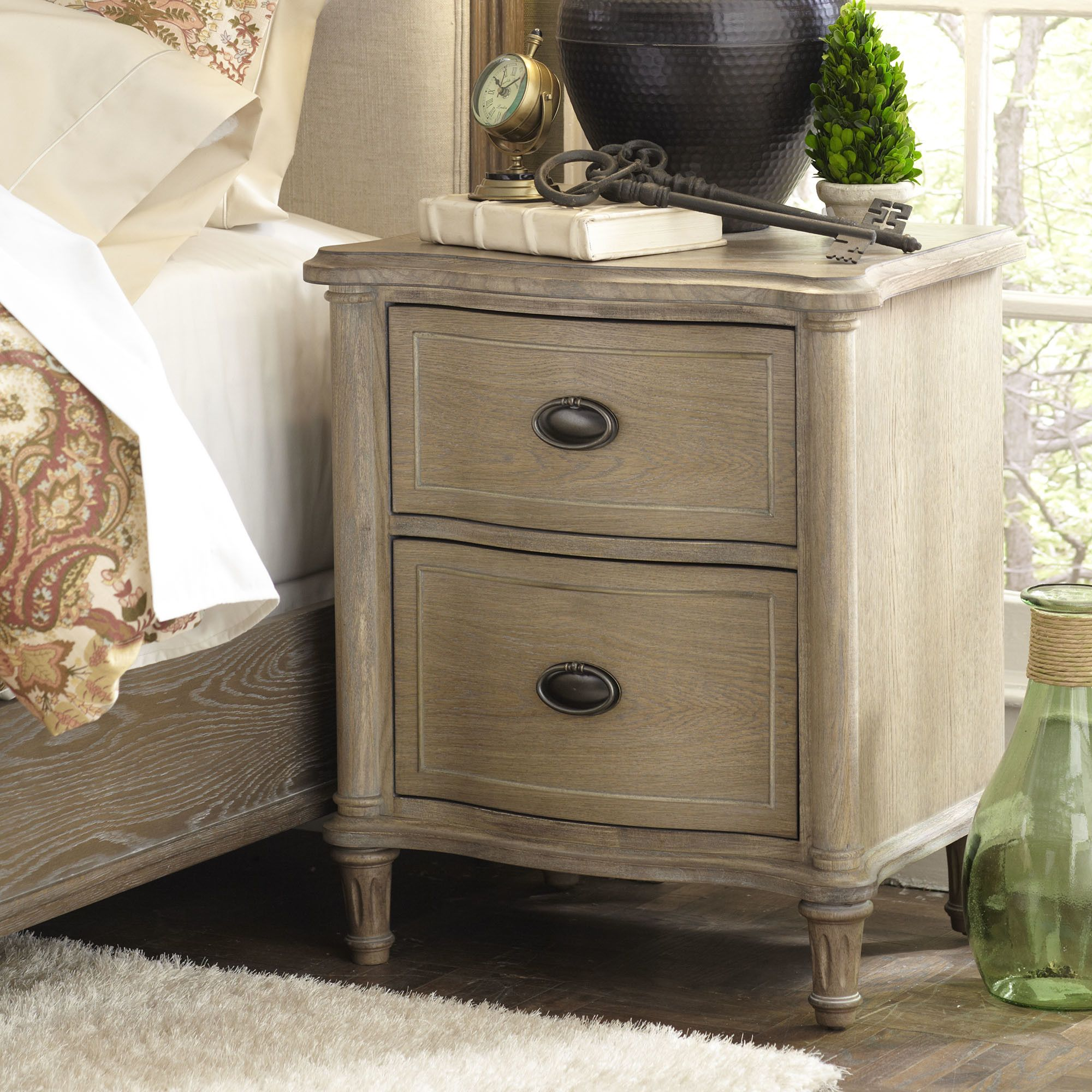 Watson 2 Drawer Nightstand Coastal Bedroom Furniture Beach