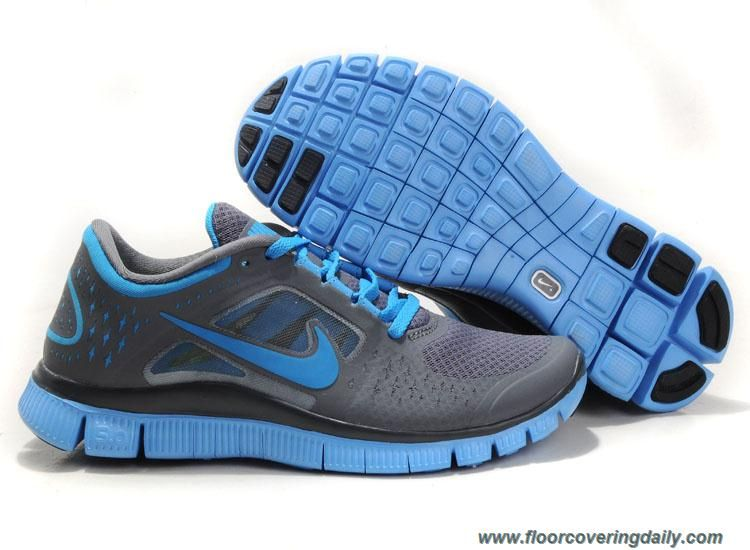 16404b70455 510643-040 Nike Free Run 3 Dark Grey University Blue Womens Online ...