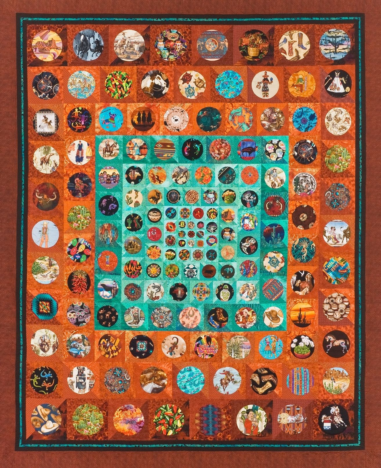 Tucson Quilters Guild 2014 raffle quilt. The circles are all made ... : quilt show tucson - Adamdwight.com